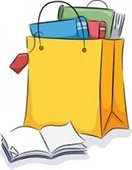 clip art bag with books