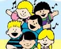 clip art children singing