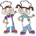 kids dressed as chefs