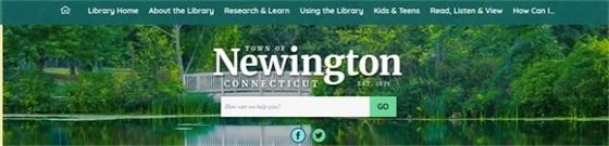 Newington Libary Front Page