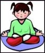 child in yoga position
