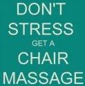 don't stress get a chair message