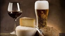 wine, beer and cheese