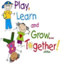 clip art children play, read and grow together