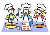 clip art kids baking