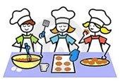clip art kids baking