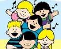 Clip art children singing
