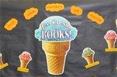 ice cream cones - ice cream for books!