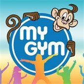 My Gym logo with monkey and children dancing