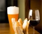 wine and beer and cheese