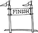 finish line banner
