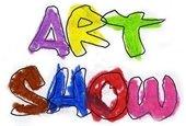 Art show multicolor painted letters