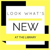 Look what's new at the library, yellow and black border