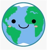 Smiling earth clipart