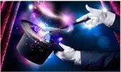 magician hat and magic wand