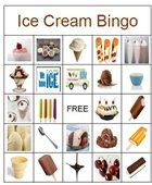 ice cream bingo board