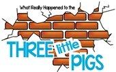 broken brick wall 3 little pigs