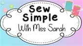 Sew simple with miss Sarah, thread, needles, buttons