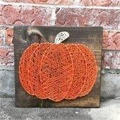string art pumpkin
