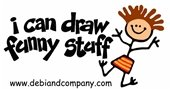 """I can draw funny stuff"" with funny stick figure"