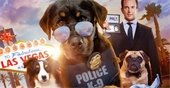 Rottweiler police dog, Australian Shepherd, Pug, and actor Will Arnet