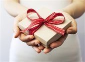 hands with a gift