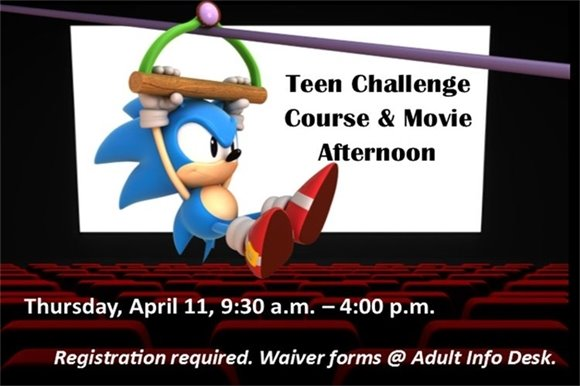 teen challenge course and movie afternoon