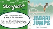 StoryWalk Jabari Jumps book