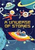 kid astronauts holding books, aliens in spaceship