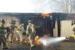 Parks and Grounds Storage Annex-Fire