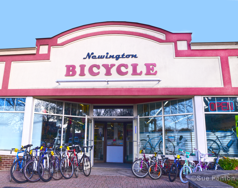Front business entrance for Newington Bicycle