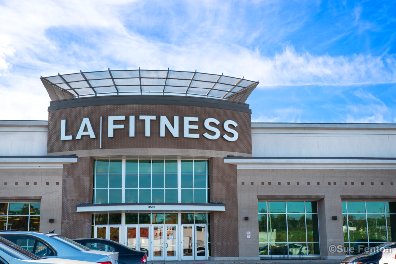 Business entrance for LA Fitness Center
