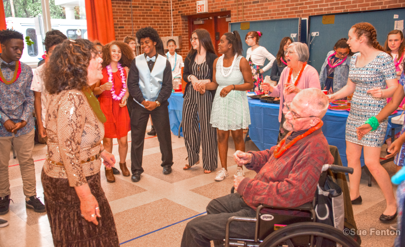 Patrons attend Senior Prom event at the Senior and Disabled Center