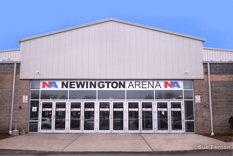 Business entrance to Newington Arena