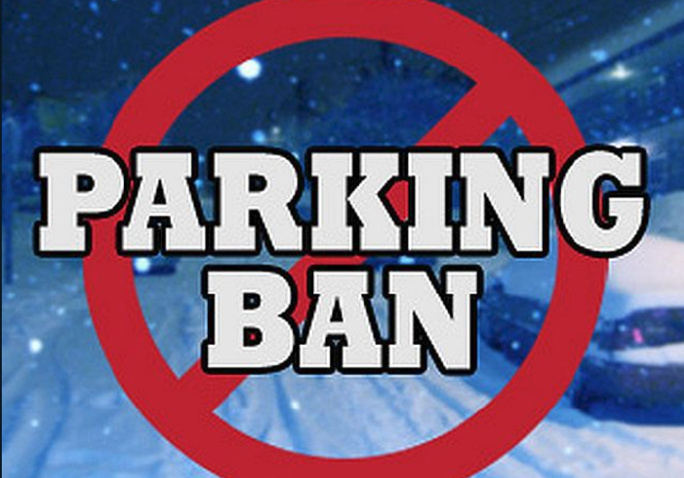 parking ban with Red circle with slash