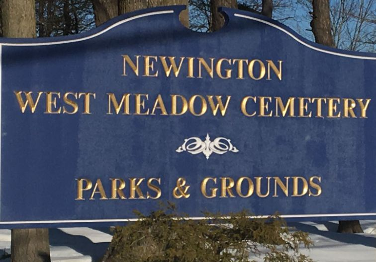 West Meadow Cemetery Sign