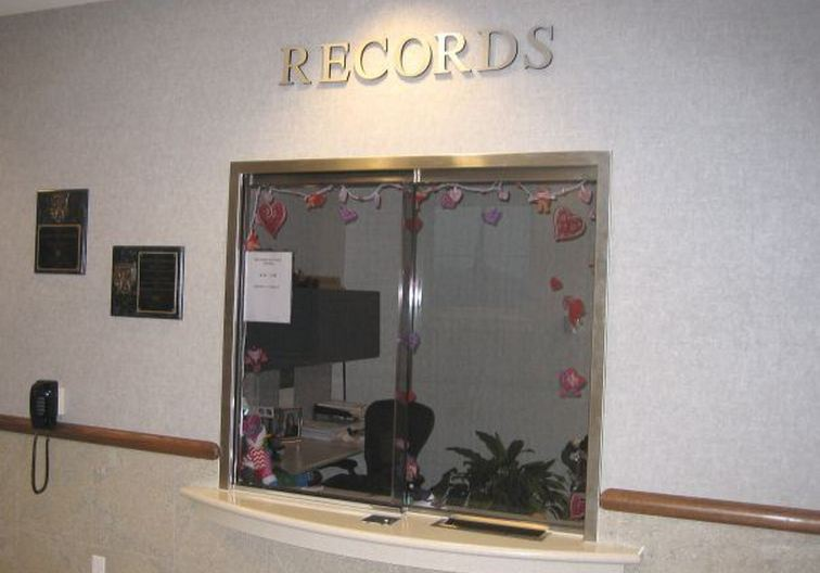 Records department service window