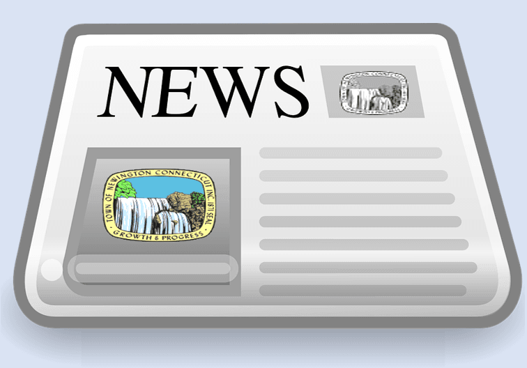 Animated News paper with headline of News