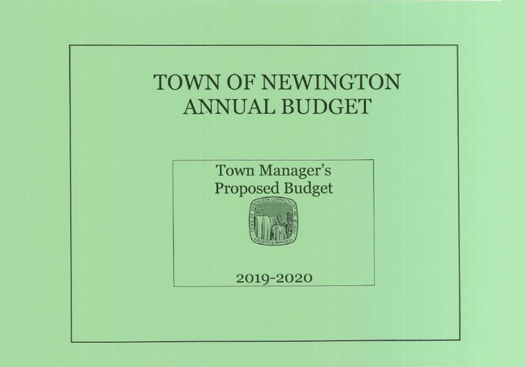 Green 2019-2020 Town Manger Proposed Budget Cover Page