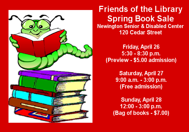 Friends spring book sale spring