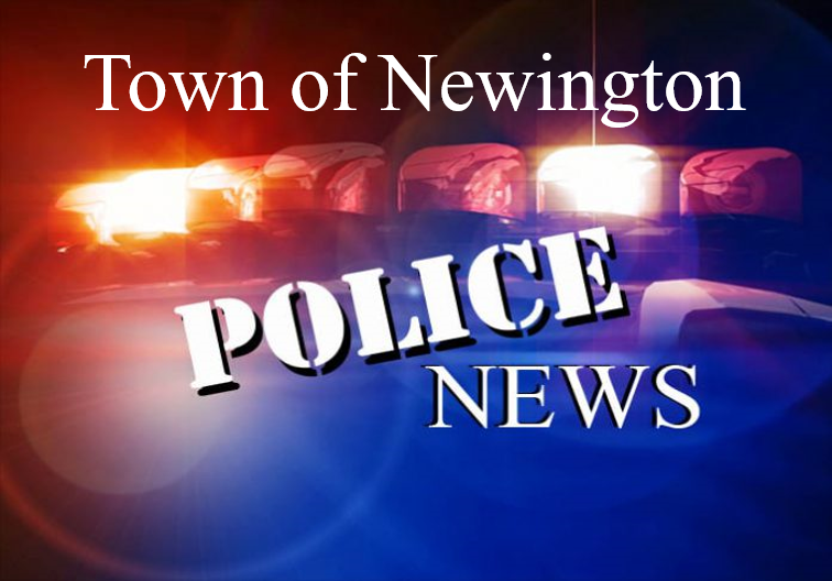 Image of Police Cruiser with the words Town of Newington Police News