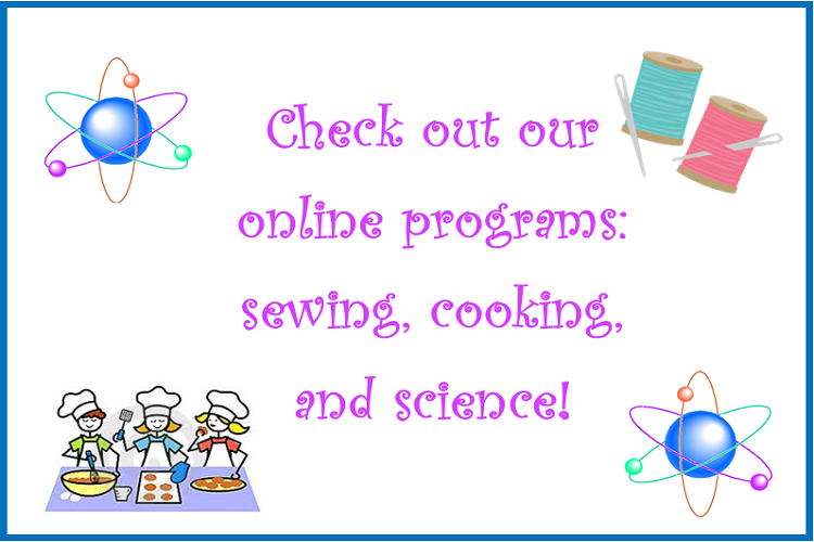 Cooking, sewing, science
