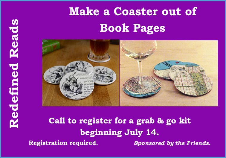 book page coasters newsflash