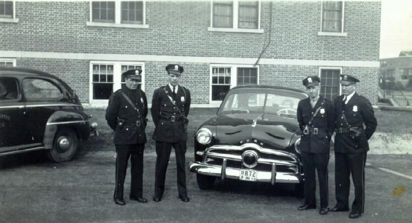 1940's Ford Cruisers at Old Police Headquarters Main Street