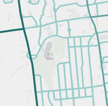 Screenshot of Census web map