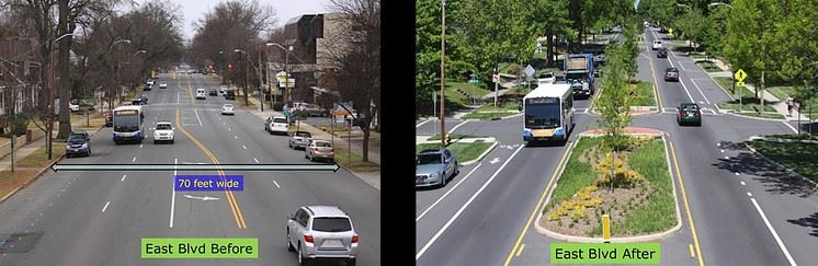 Example of Complete Street Before and After